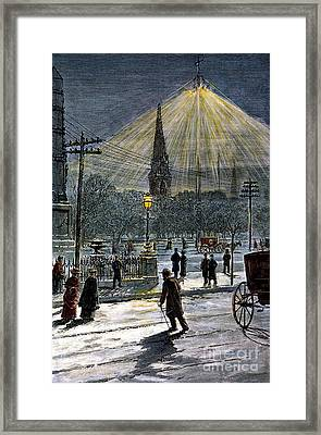 Electric Streetlight, 1881 Framed Print