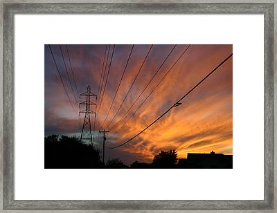 Electric Sunset Framed Print by Nina Fosdick