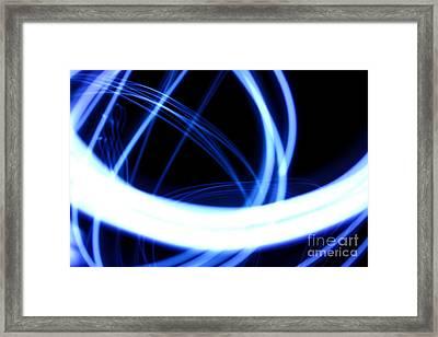 Electric Swirl Framed Print
