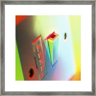 Electric Switch Framed Print by Tek Image