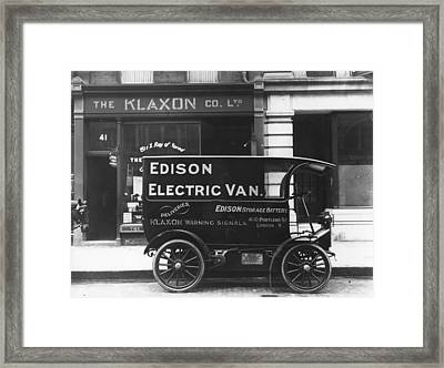Electric Van Framed Print by Hulton Collection