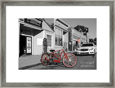 Electric Vehicle . Peddle Power . Infinite Miles To The Gallon . 7d12729 Framed Print by Wingsdomain Art and Photography