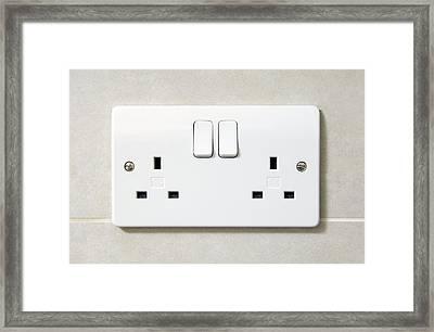 Electric Wall Socket Framed Print