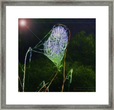 Electric Web In The Fog Framed Print by EricaMaxine  Price