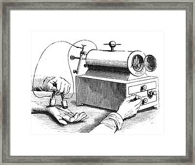 Electrical Device, 1876 Framed Print