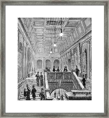 Electrical Exposition, 1881 Framed Print by Granger