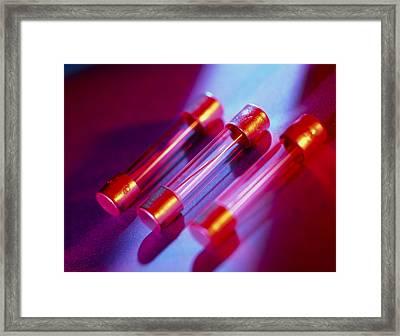 Electrical Fuses Framed Print by Tek Image