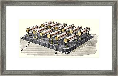 Electrical Heater, 1900 Framed Print