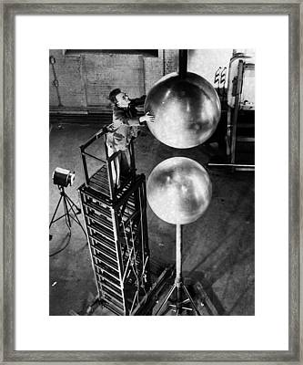 Electrical Research Framed Print by Fox Photos