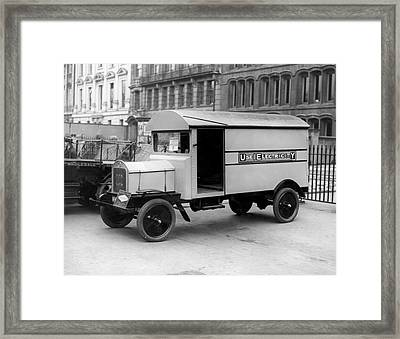 Electrical Van Framed Print by Topical Press Agency