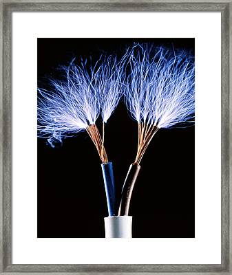Electrical Wires Framed Print