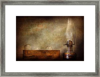 Electrician - Advancements In Lighting  Framed Print by Mike Savad