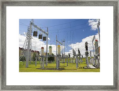 Electricity For A City Framed Print by Aleksandr Volkov