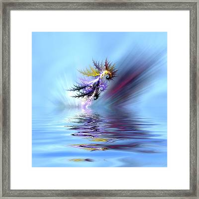 Electrified Seahorse Framed Print by Sharon Lisa Clarke