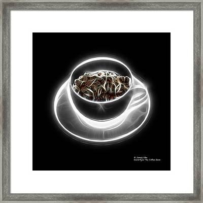 Electrifyin The Coffee Bean -version Greyscale Framed Print