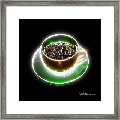 Electrifyin The Coffee Bean -version Orange Framed Print