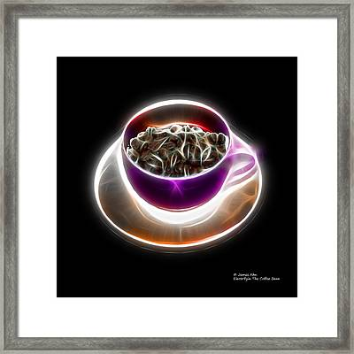 Electrifyin The Coffee Bean -version Violet Framed Print