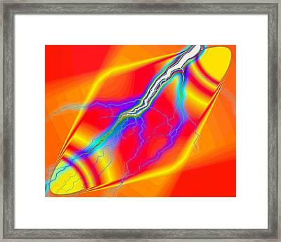 Electrifying Energy Framed Print by Joyce Dickens