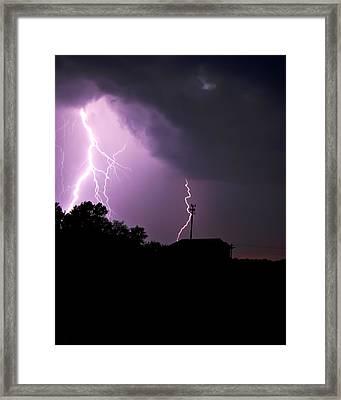 Electrifying Sky  Framed Print