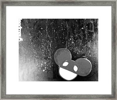 'electro-hau5' Monocrome Framed Print by Holly Georgina McQuoid