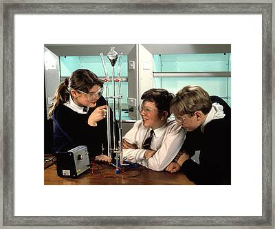 Electrolysis Of Water Framed Print by Andrew Lambert Photography