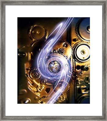 Electromechanics, Conceptual Image Framed Print by Richard Kail