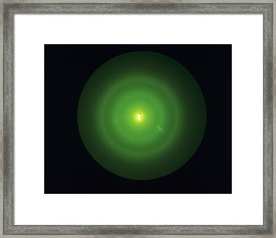 Electron Diffraction Pattern Framed Print by Andrew Lambert Photography