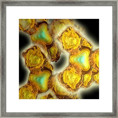 Electron Interactions, Artwork Framed Print by Lawrence Berkeley National Laboratory