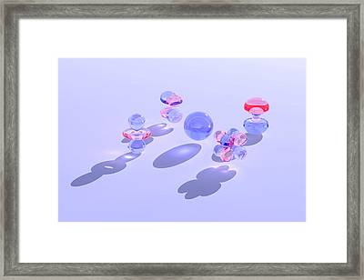 Electron Orbitals Framed Print by Dr Mark J. Winter