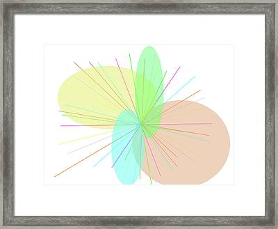 Electron Paths Framed Print by Naomi Jacobs