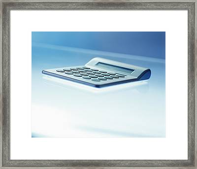 Electronic Calculator Framed Print