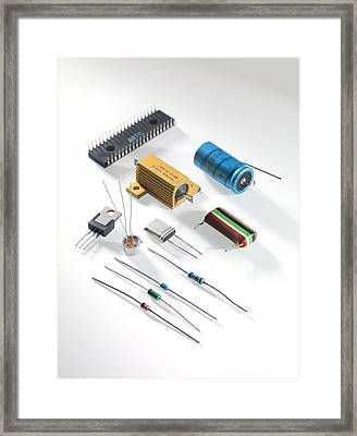 Electronic Components Framed Print by Tek Image