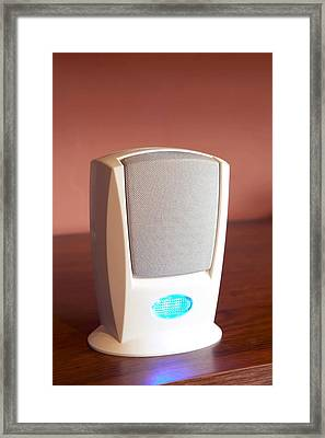 Electronic Doorbell Speaker Framed Print by Mark Sykes