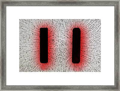 Electrostatic Field Lines Like Charges Framed Print by Ted Kinsman