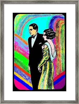 Elegant Couple Color Framed Print by Mel Thompson