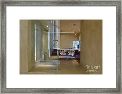 Elegant Hallway To A Home Office Framed Print