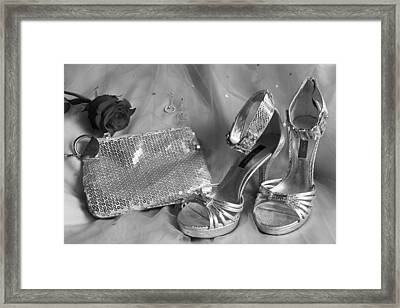 Elegant Night Out In Black And White Framed Print