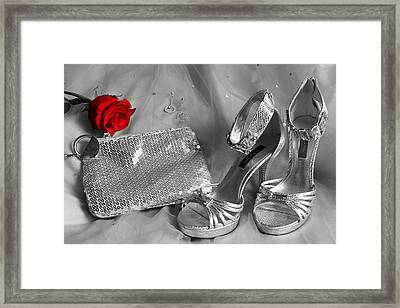 Elegant Night Out In Selective Color Framed Print