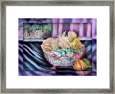 Elegant Ornaments Framed Print by Mindy Newman