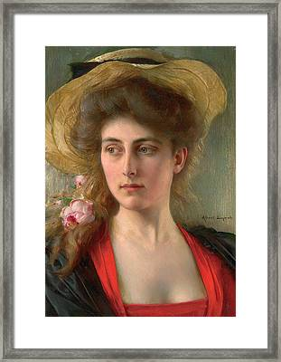 Elegante Framed Print by Albert Lynch