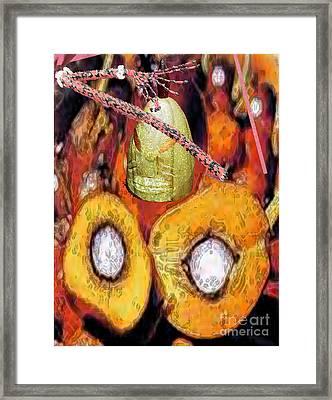 Eleggua Corojo Framed Print by Liz Loz