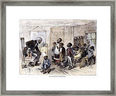 Elementary School, 1879 Framed Print