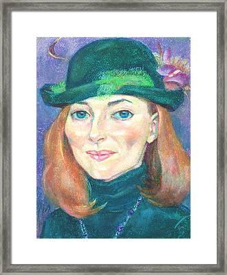 Elena Nikitina Framed Print by Leonid Petrushin