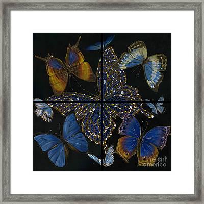 Framed Print featuring the painting Elena Yakubovich Butterfly 2x2 by Elena Yakubovich