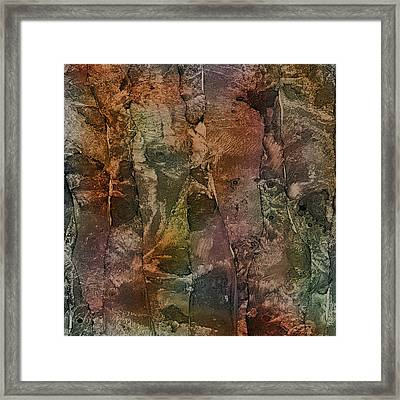Elephant Family Detail Framed Print by Richard Fisher
