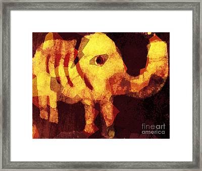 Elephant I Am Framed Print