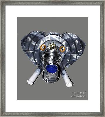 Elephant Mask Framed Print by Bill Thomson