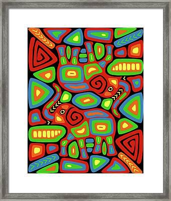 Elephant Mola Framed Print