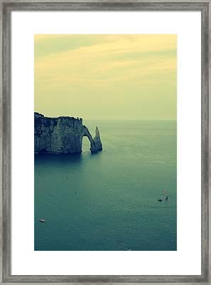 Elephant Rock In Etretat, Normandy In France Framed Print by Photo by Ira Heuvelman-Dobrolyubova