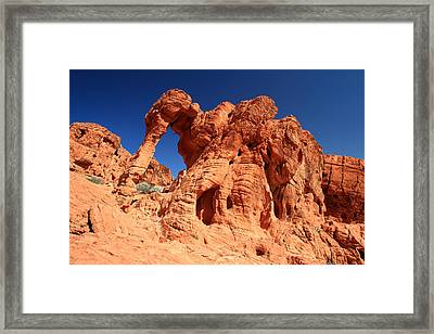 Elephant Rock In Valley Of Fire Framed Print